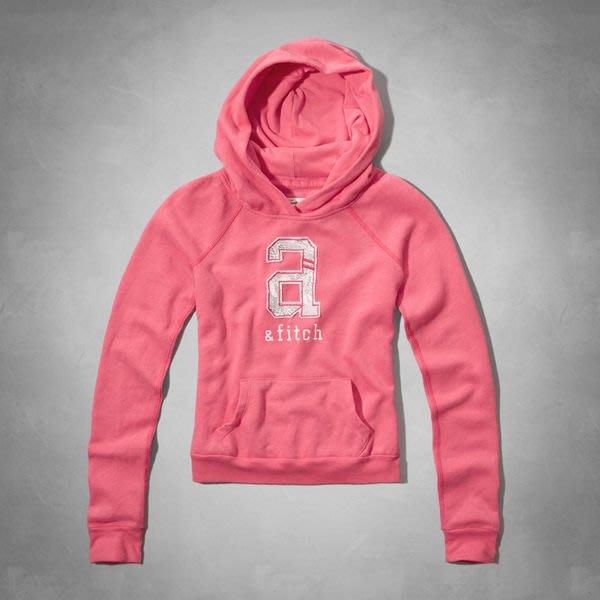 《Cupio》現貨 Abercrombie Kids shine lace 蕾絲貼布薄款刷毛連帽長袖T(XL)32