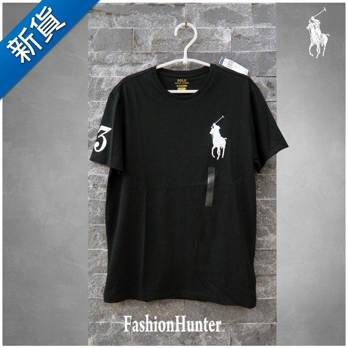 新貨【FH.cc】Polo Ralph Lauren 素t 圓領素面短袖T恤 黑 刺繡大馬 成人款 Tommy