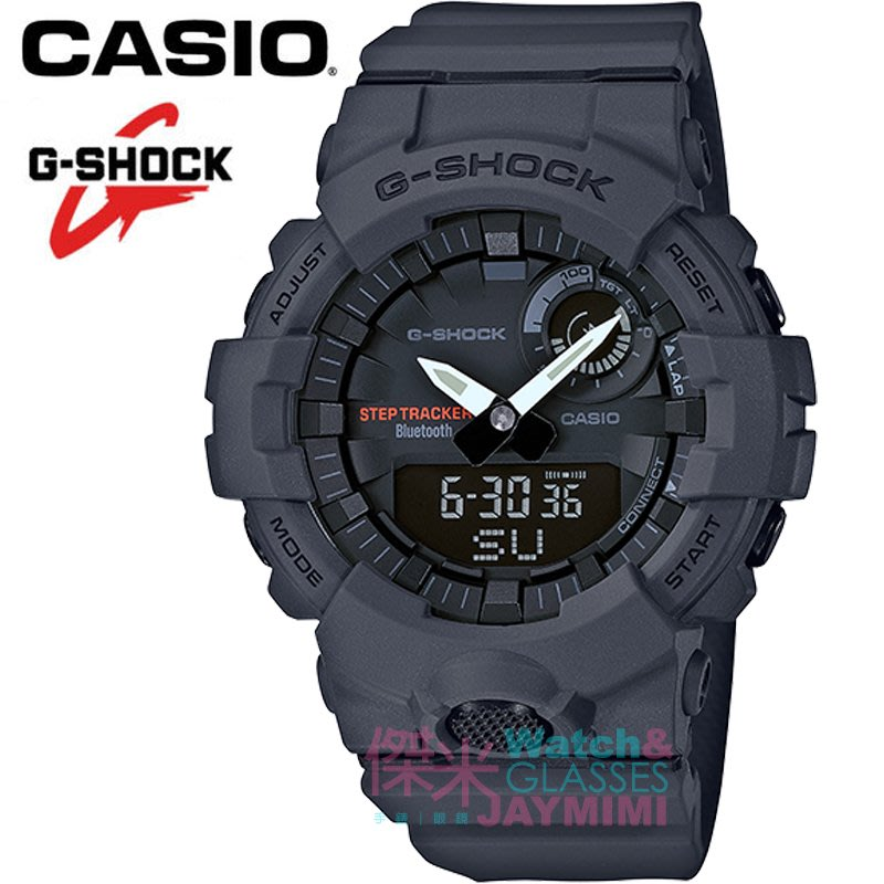 【JAYMIMI傑米】CASIO_G-SHOCK 全新原廠公司貨 藍牙連動智慧型運動錶 #GBA-800-8A