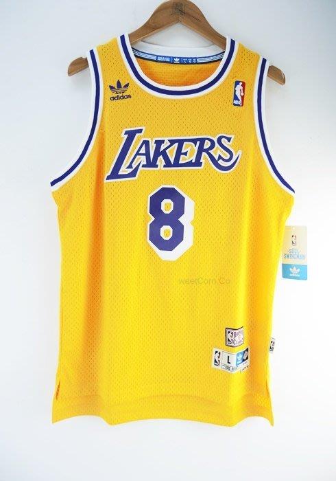 玉米潮流本舖 ADIDAS NBA KOBE BRYANT 8號 新人年HWC 湖人隊 復古電繡 青年版球衣 現貨