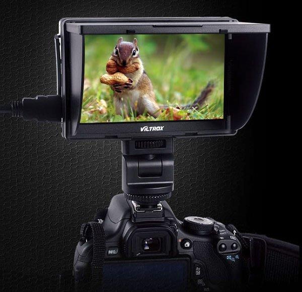 呈現攝影-Viltrox 5吋LCD液晶螢幕 即時取景+有線遙控 HDMI 錄影 翻轉螢幕 高低角度 廟會 DC-50