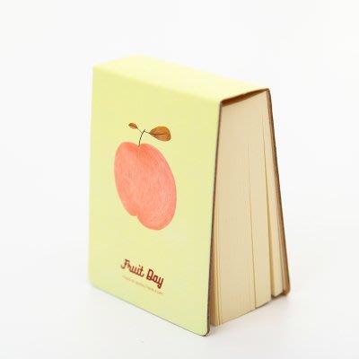 雲崙日雑-插畫風水果系列空白便條紙-蘋果