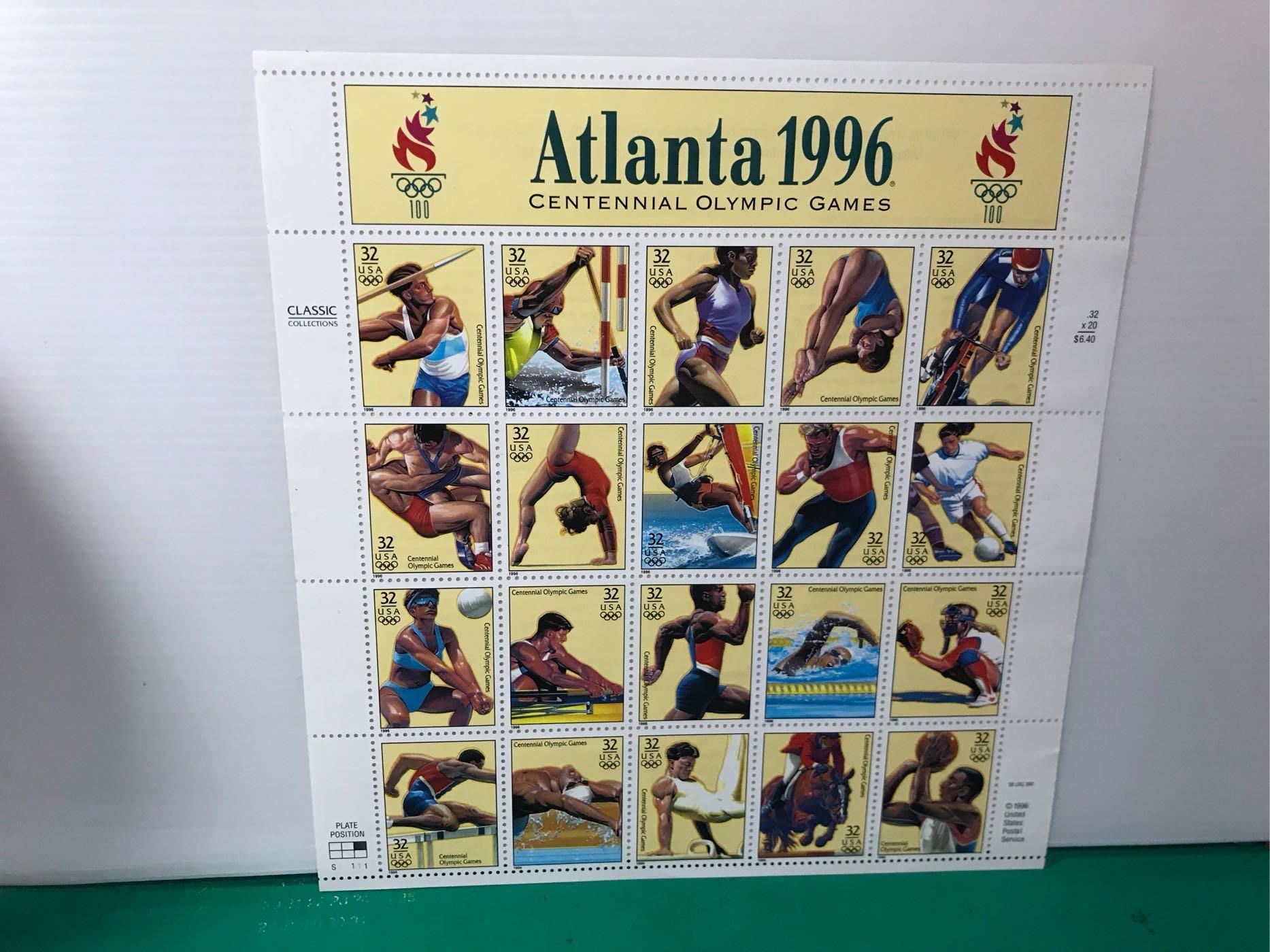 1996年美國亞特蘭大奧運紀念郵票整套