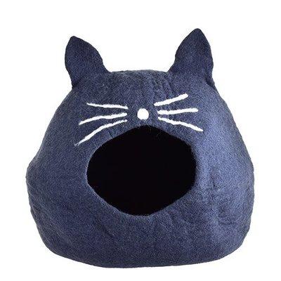 【寵物王國-貓館】Gatto Casa手工羊毛氈貓窩/亨列特畫圖中小貓50cm,加贈紐崔克貓魚排點心x3個
