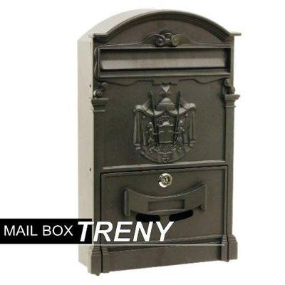 【TRENY直營】歐風鐵製信箱 鑄鐵信箱 信件箱 意見箱 信件 郵件 居家必備 3475