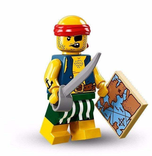 現貨【LEGO 樂高】美國正品 積木/ Minifigures人偶包系列: 16代 71013 單一人偶: 海盜