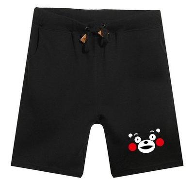 夏裝動漫短褲子沙灘褲衛褲熊本熊海賊王運動休閒短褲男女情侶裝
