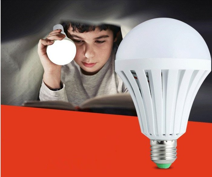 MQA12W 一按即亮 遇水即亮 送掛勾 LED智慧緊急照明燈泡12W