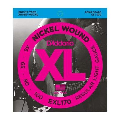 ☆唐尼樂器︵☆美國製 D'Addario EXL170 (45-100) Bass 4弦套弦