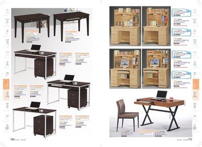 尊爵床墊 家具批發   770-1 #31124B 松木實木開心4.2尺書桌(全組)