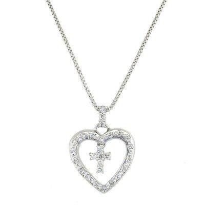 【JHT 金宏總珠寶/GIA鑽石專賣】0.22ct天然鑽石項鍊/材質:18K(JB41-B19)