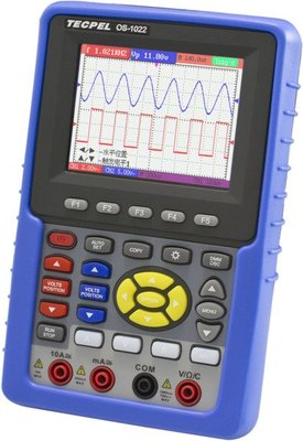 TECPEL 泰菱》OS 1022 20MHz 掌上型 數位 示波器 +三用電錶  掌上型示波器 送16G隨身碟 降價
