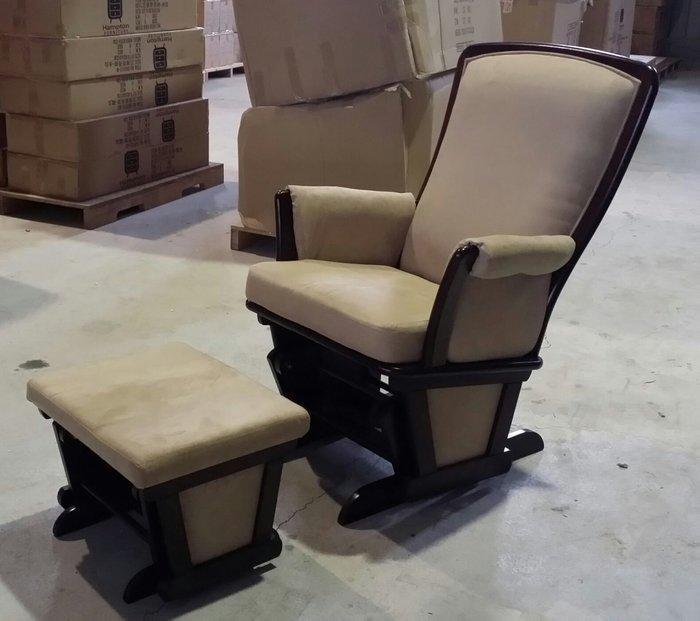 美生活館 全新鄉村古典風格 歐式搖椅加腳凳整組 休閒椅 躺椅 沙發椅主人椅 民宿居家拍照婚嫁老人椅媽媽椅