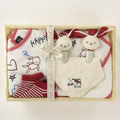 尼德斯Nydus~* 嚴選日本製 BE CERA 嬰兒/Baby用品 圍兜 襪子 小毛巾 禮盒組 Born Free