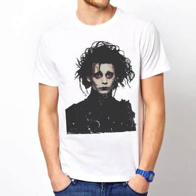 EDWARD SCISSORHANDS短袖T恤-2色 Johnny Depp人物相片电影强尼戴普剪刀手 390