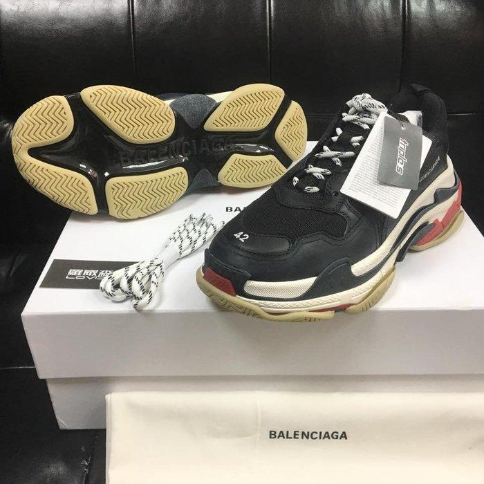 [ 羅崴森林 ] 巴黎世家 Balenciaga Triple S SS18黑紅37-46現貨刷卡