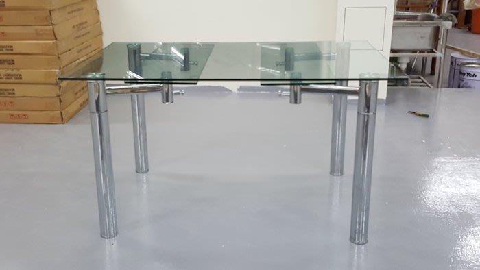 二手家具樂居 台中全新中古傢俱 BN1109AJE*全新玻璃餐桌 蝴蝶桌 會議桌 戶外休閒桌*各式桌椅拍賣辦公桌 電腦桌