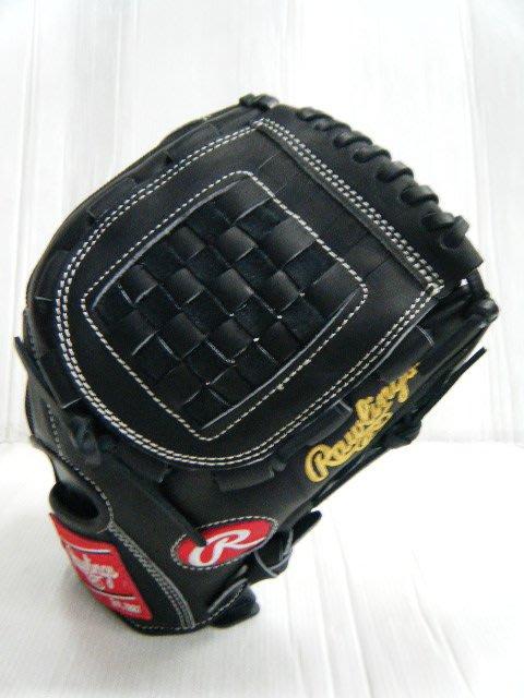 新莊新太陽 Rawlings GR6FJV B MLB 球員款 不織布 棒壘手套 投手 棋盤格 黑色 特4400