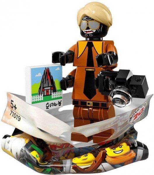 現貨【LEGO 樂高】積木 / 人偶包系列 忍者電影 71019 | #15 西裝伽瑪當+相機 Garmadon