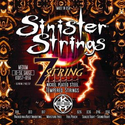 ☆ 唐尼樂器︵☆ Kerly Strings Sinister 系列冰火弦 KQXS7-1056 (10-56) 美製電吉他弦(7弦/七弦用)