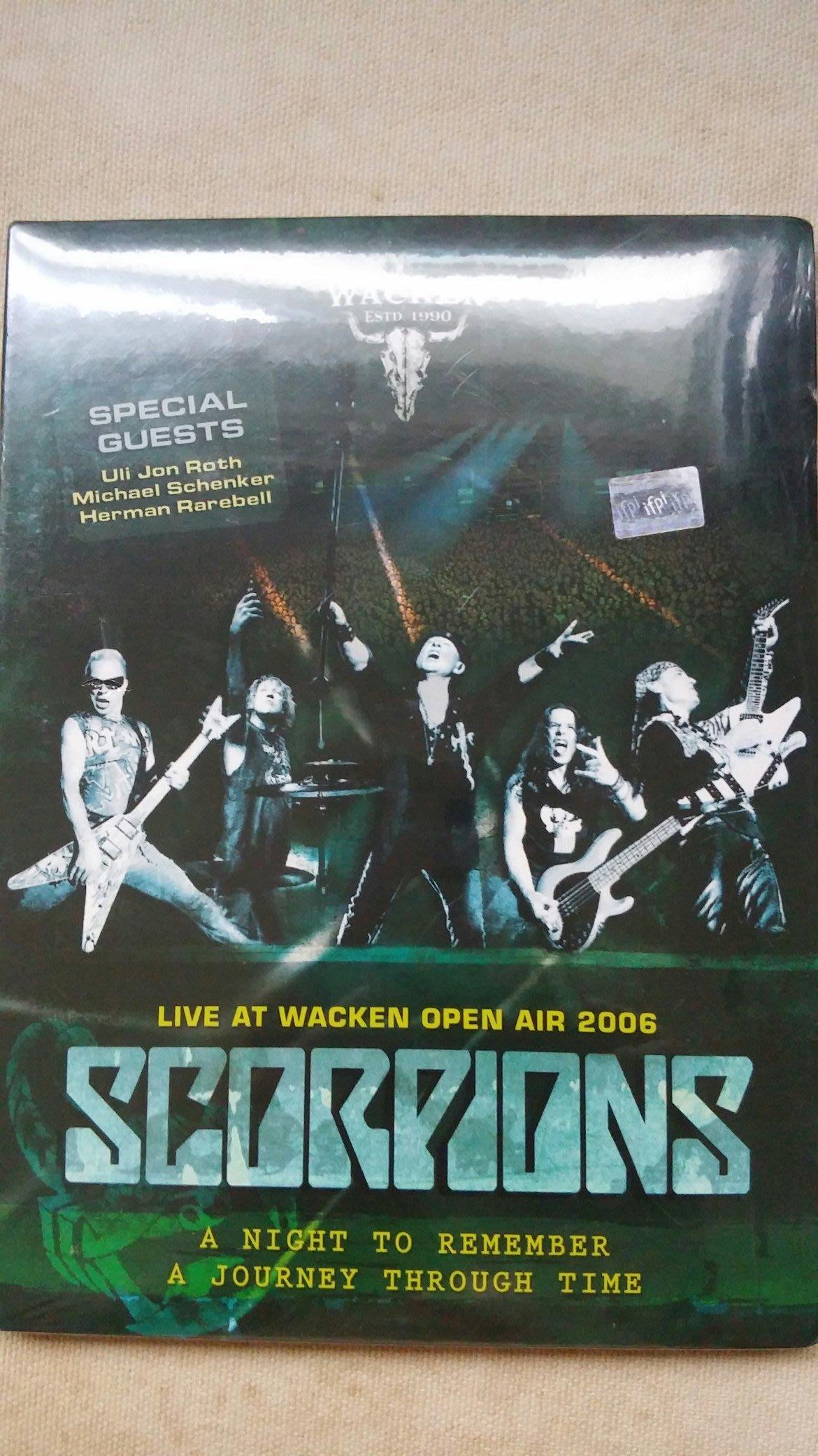 德版PAL系統DVD Scorpions - Live at Wacken open air 2006 全新未拆封