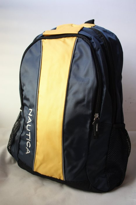 現貨【NAUTICA】100% 全新正品 超實用 多功能 後背包 電腦包 書包 / 黃藍色【適A4文件】BP07