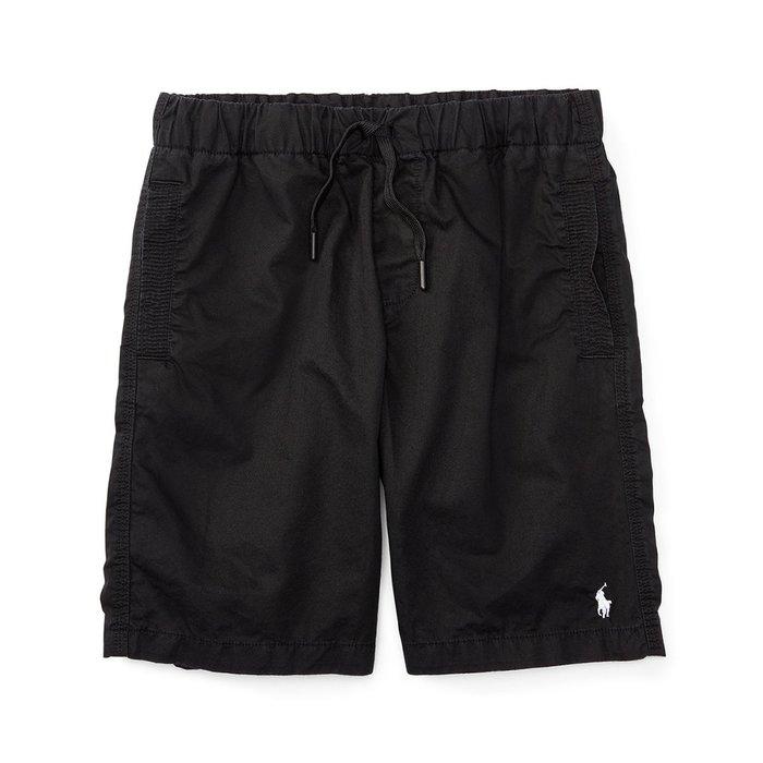 美國百分百【全新真品】Ralph Lauren 抽繩短褲 休閒褲 褲子 Polo RL 小馬 黑色 S號 I159