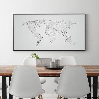 世界地圖-掛畫  Uluru Design 北歐風格掛畫 民宿 主題商旅 主牆裝飾畫 壁畫 客廳 工業風 個性造型擺件
