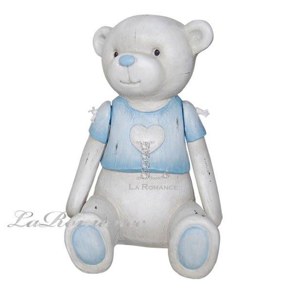 【芮洛蔓 La Romance】德國 Heidi 童趣家飾 - 粉藍甜心熊 (共三尺寸) / 動物擺飾 / 小孩、兒童房