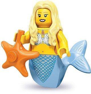 現貨【LEGO 樂高】積木/ Minifigures人偶系列: 9代人偶包抽抽樂 71000   #12 美人魚+海星