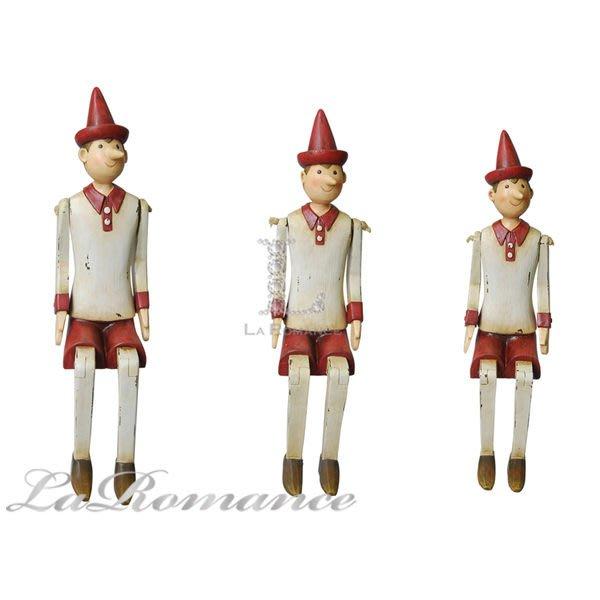 【芮洛蔓 La Romance】德國 Heidi 童趣家飾 - 紅帽坐姿小木偶 (共三尺寸) / 小孩、兒童房