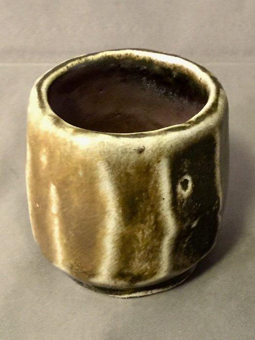 [裕山]陶&茶:土呆(劉瑞興)老師--柴燒品杯td49(6.4*6.4*6.0公分)
