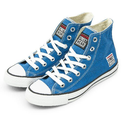 利卡夢鞋園–VISION STREET WEAR 經典帆布鞋--藍--V22010--男/女