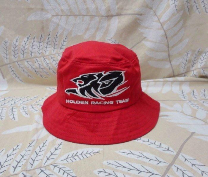 澳洲雄獅 HOLDEN 男女登山露營釣魚旅遊 漁夫帽盆帽 純棉 超厚實 紅色 55~57公