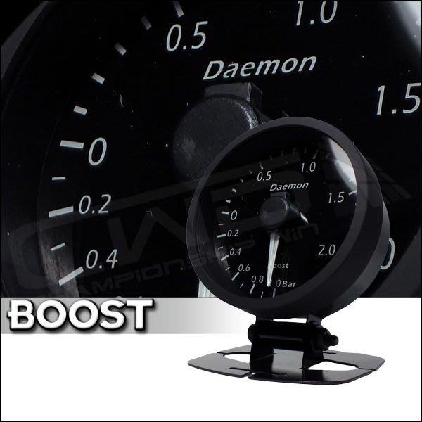 ☆光速改裝精品☆ Daemon 60mm  增壓錶 渦輪表 3bar (紅白變色-遙控器版)