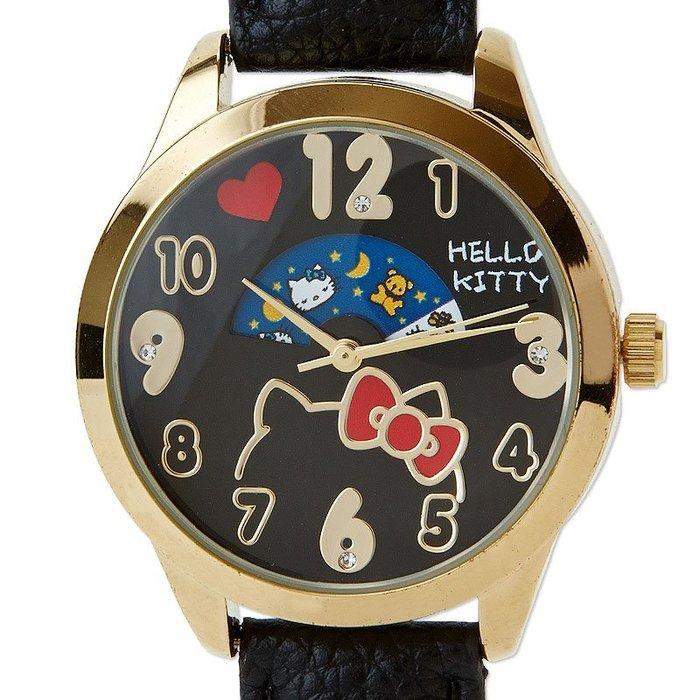 夢幻推薦【散步東京】日本購回 ☆ 現貨 KITTY 日夜小窗口設計手錶 日本製機蕊
