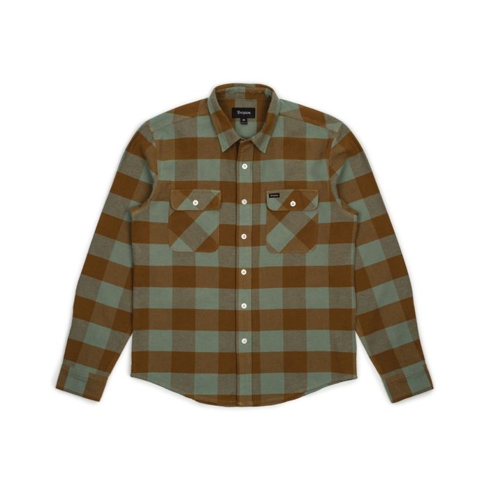 《Nightmare 》Brixton Bowery L/S Flannel - Green Bay