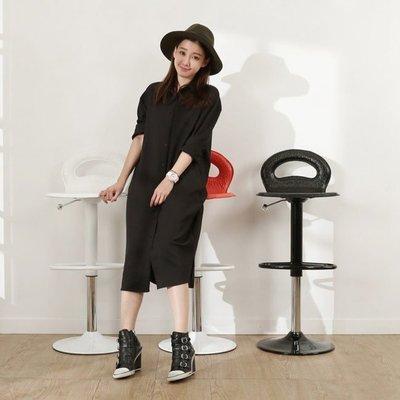 書房/臥室【居家大師】YC-BS101 維尼複合牛皮吧檯椅 現代高腳椅 三色可選