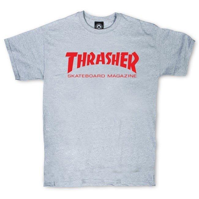 《Nightmare 》Thrasher Skate Mag T-Shirt - Gray Red