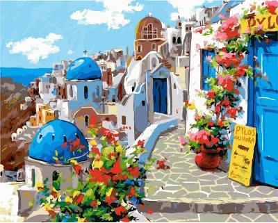 ArtLife藝術生活 DIY 彩繪 數字油畫 裝飾畫【DT125】愛在希臘 40*50cm