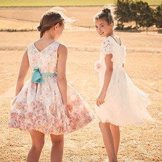 *Sandys home*全新正品 英國童裝 MONSOON 立體紗玫瑰花卉小禮服洋裝 9歲 ~ 不折扣