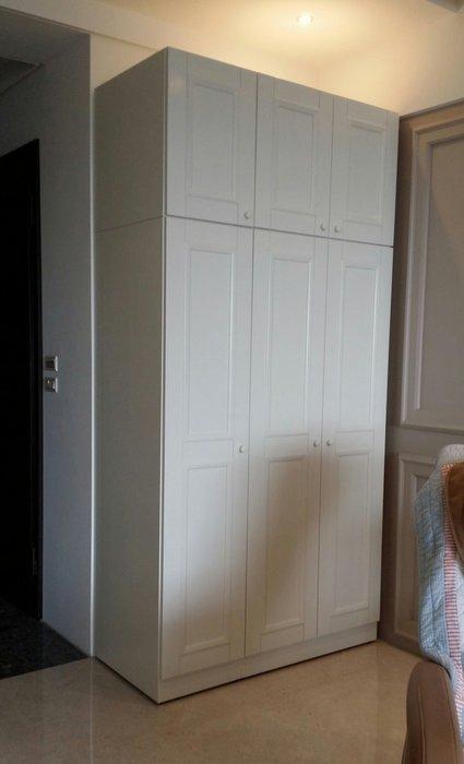 美生活館 美式鄉村家具訂製 客製化 全原木象牙白衣櫃 收納櫃 衣帽玄關櫃 手作系統櫃 隔間櫃 可修改尺寸顏色再報價
