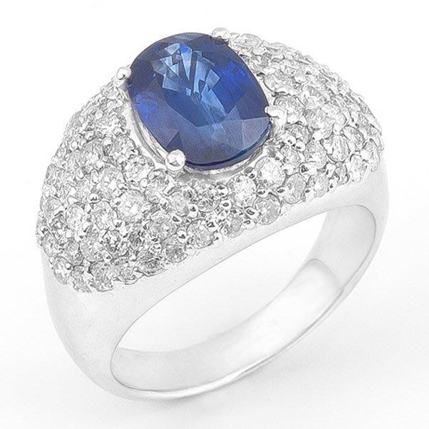 【JHT 金宏總珠寶/GIA鑽石專賣】3.04ct天然藍寶鑽戒/材質:PT900(JB23-B029)