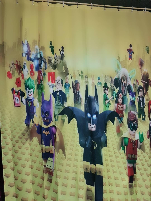 【童樂會】漫威 復仇者聯盟 英雄聯盟 蝙蝠俠 樂高 卡通浴簾 拉簾 浴室門簾 窗簾 防水簾 淋浴簾