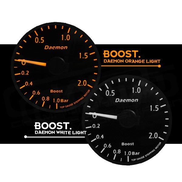 ☆光速改裝精品☆ Daemon 二代 60MM 增壓錶 渦輪表  BMW 寶馬  ( 橘光遙控器版本)