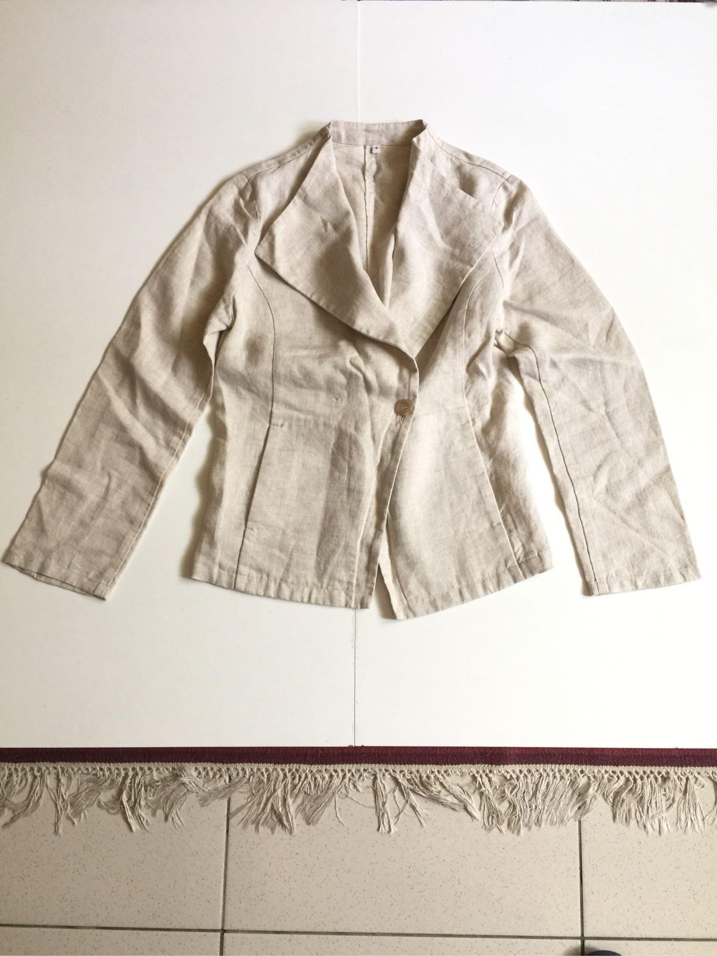 Muji 無印良品 西裝外套 麻外套 休閒外套 學院 復古 外套 極簡 薄外套 全麻 麻料