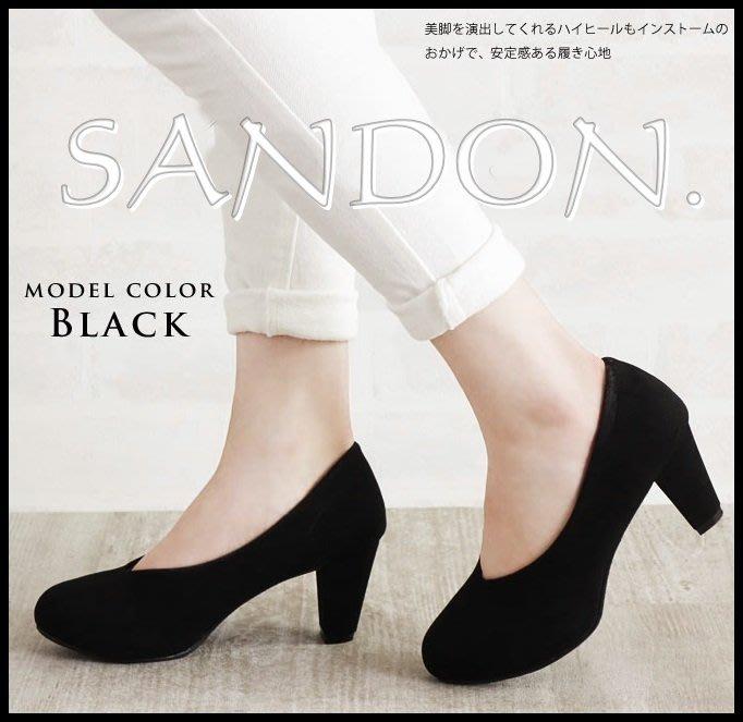 山東: KBF EMODA LOWRYS日本品牌樂天代購V口V領修飾防水台粗跟高跟鞋