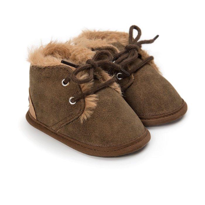 森林寶貝屋~咖啡休閒保暖鞋~學步鞋~幼兒鞋~寶寶鞋~嬰兒鞋~學走鞋~童鞋~綁帶設計~保暖舒適~彌月贈禮~特價1雙175元