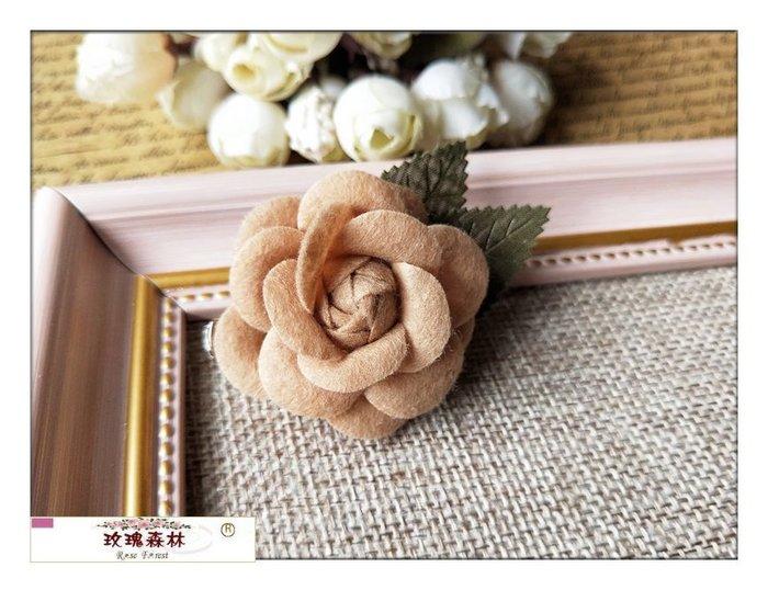 玫瑰森林-- ☆°*美麗嚴選 ~ 精緻浪漫 布藝 立體玫瑰花朵 別針 胸針(鴨嘴夾)
