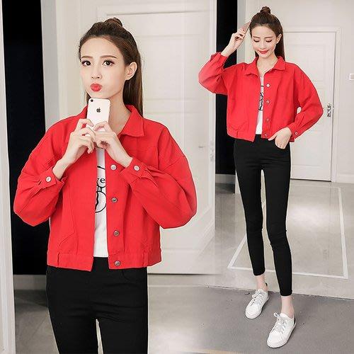 【現貨+預購R】2018新款紅色長袖夾克牛仔外套